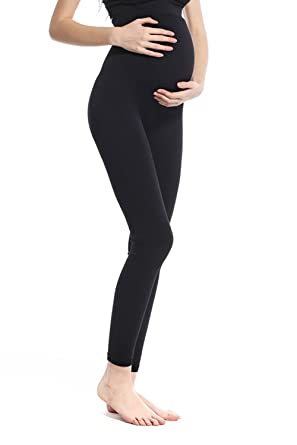e68aa1c011f3e Khaya Women's Seamless Fit Maternity Belly Full Length Leggings at Amazon  Women's Clothing store: