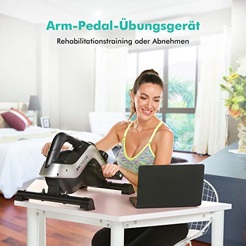 ANCHEER-Under-Desk-Cycle-Pedal-Exerciser-Mini-Stationary-Bike-for-Legs-and-Arms-Exercise-with-LCD-Monitor-2-in-1-Pedal-Exerciser-PE-Bike-Pro-for-iOS-and-Android-with-Free-APP
