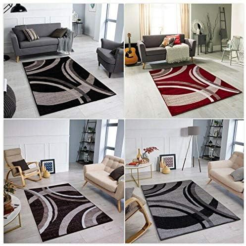 Zf Modern Havana Collection Rug Small Extra Large Living Room Floor Carpet Rug Uk Black 160 X 230 Cm Amazon Co Uk Kitchen Home