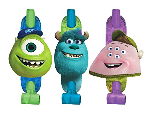 Amscan Monsterrific Disney Monsters University Birthday Party Blowouts, Multicolor, 5 5/8