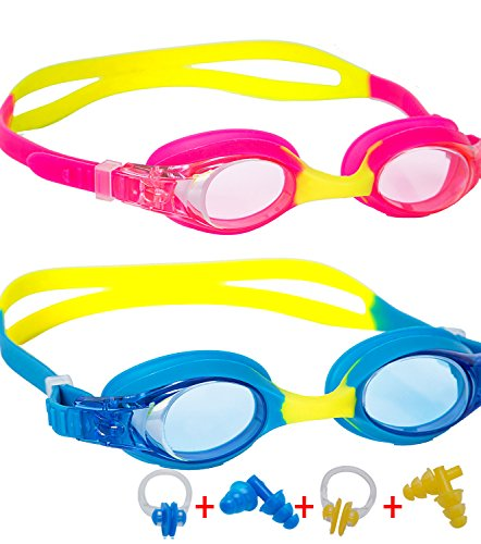 Kids Swim Goggles Leaking Anti Fog UV Protection Triathlon Child Swimming Goggles for Kids and Early Teens with