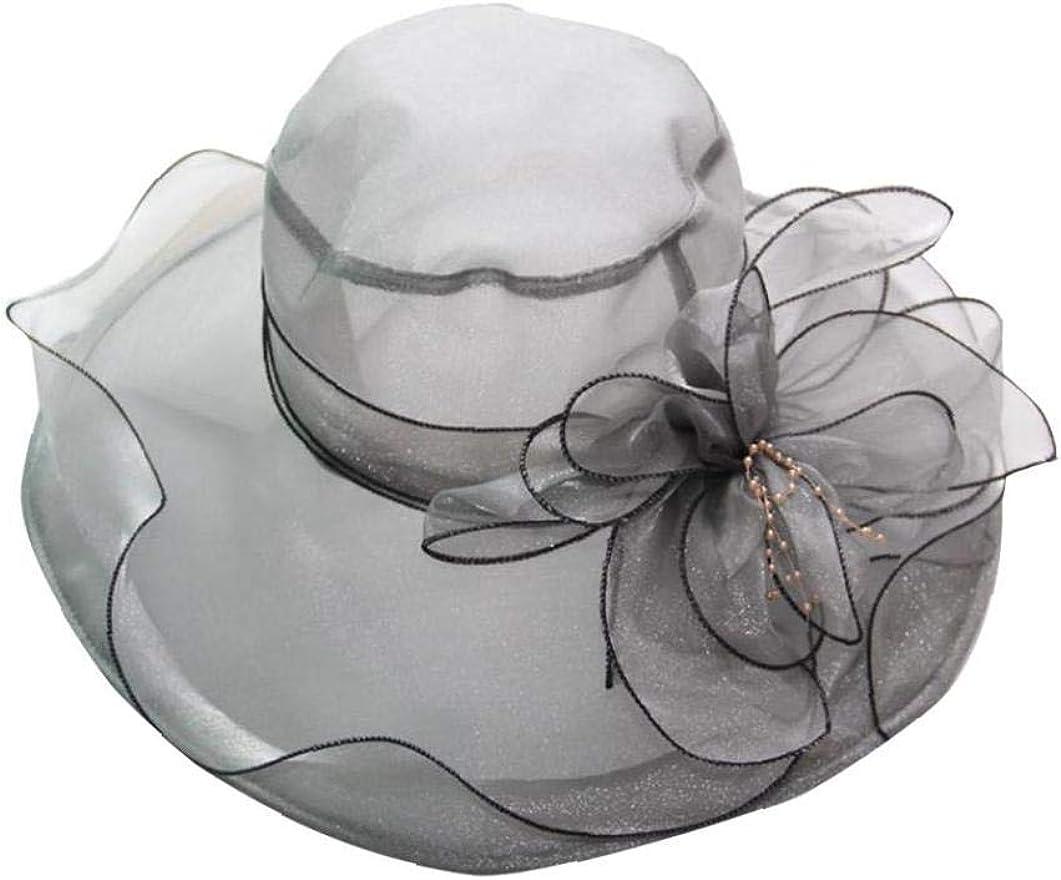 Saferin Damen Organza Kirche Kentucky Derby Fascinator Brauttee Party Hochzeit Hut