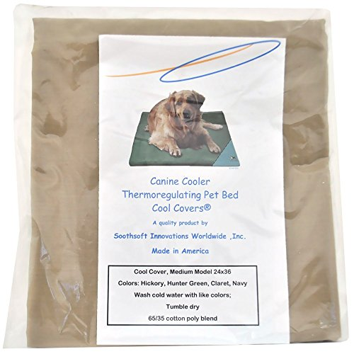 Canine Cooler Covers (Canine Cooler Bed Cover MEDIUM, Choose a color: Hickory Cool)