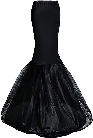 robe longue noire jupon
