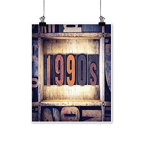 Canvas Prints Wall Art The Word 1990s Written