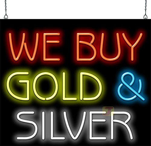 We Buy Gold & Silver Neon Sign