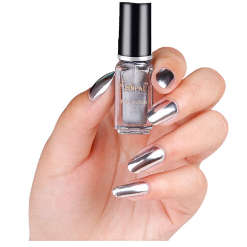 Amazon.com: Inverlee Gel Nail Polish Mirror Effect Nail Polish ...