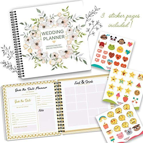 The Perfect Wedding Planner & Organizer with Stickers.