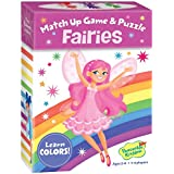 Peaceable Kingdom Fairies 24 Card Color Match Up Memory Game and Floor Puzzle for Kids