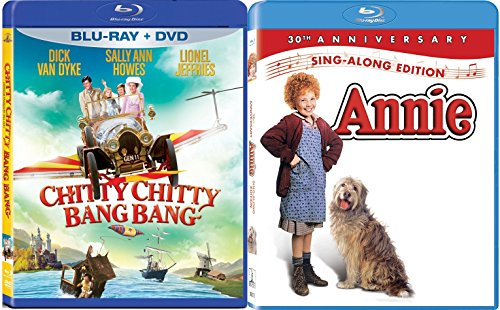 Kids Sing Along Annie Chitty Chitty Bang Bang Musicals Blu Ray Set Movie Double Feature Bundle