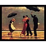 FRAMED The Singing Butler by Jack Vettriano 26.5x21.5 Art Print Romantic Dancing with Umbrellas