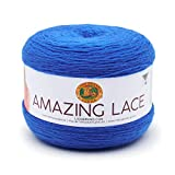 Lion Brand Amazing Lace-Cobalt Butterfly