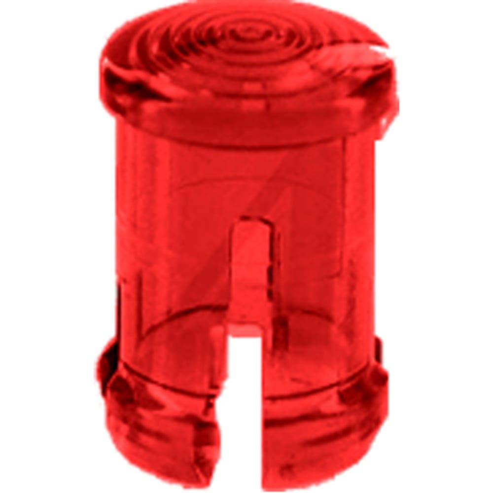 Lens Cap; LED; Round; Red; Panel .031-.062; for T-1-3/4, Pack of 100