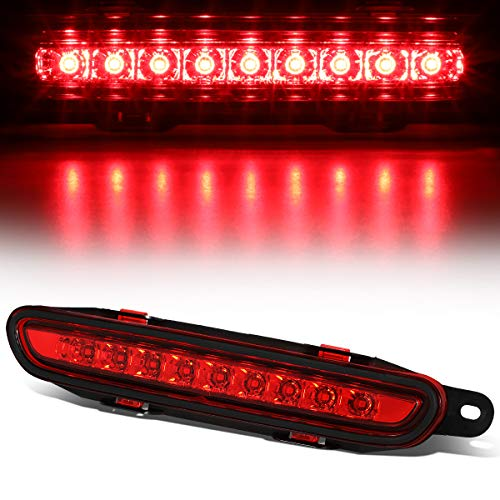 Red Lens Full LED Third 3rd Tail Brake Light Rear Cneter Stop Lamp for 06-10 Dodge Charger