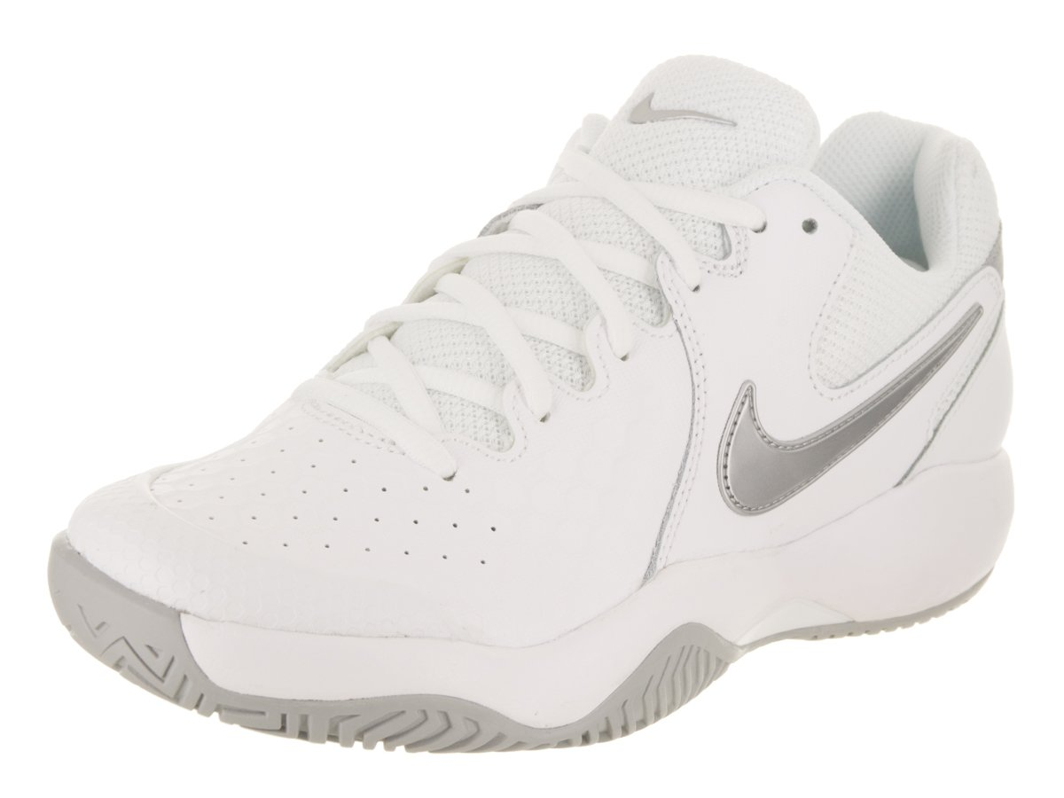 NIKE Women's Air Zoom Resistance Tennis Shoes (8.5 B US, White/Metallic Silver)