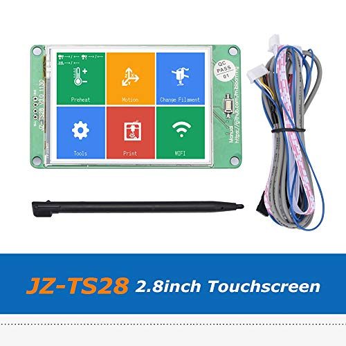 Zamtac 1pc 3D Printer Parts JZ-TS28 2.8inch Full Color Touch Screen Board Compatible with Ramps1.4 MKS Board by GIMAX (Image #1)
