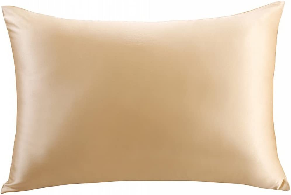 ZIMASILK 100% Mulberry Silk Pillowcase for Hair and Skin,Both Side 19 Momme Silk, 1pc (Queen 20''x30'', Champagne)