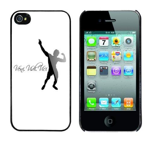 Iphone 4 Case Veni, Vidi, Vici Rahmen schwarz