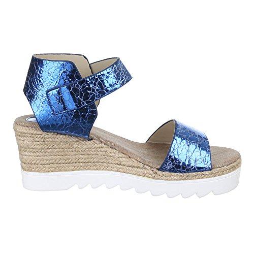 Ital-Design - Plataforma Mujer Azul - azul