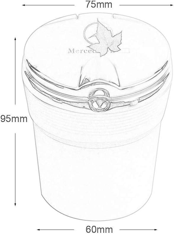 Color : Gold PANGMO Cendrier Voiture Compatible avec Mercedes-Benz LED Portable De Camion De Voiture Bureau Auto Cigarette Cendrier Cup Holder