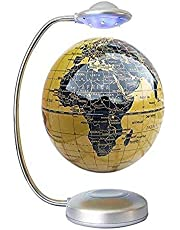 CHOUE 8 Inch Magneet Levitatie met LED-licht,Gele Magnetische Levitatie Globe voor Kids Home Offic