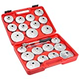 oil filter cap set - Aluminum Alloy Cup Type Oil Filter Cap Wrench Set Socket Removel 23PCs