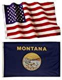 Montana State Flags (5×8 US Combo)