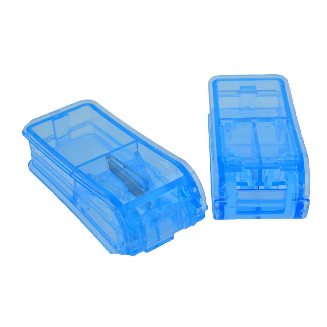 Lystaii 2pcs Pill Cutter Pill Splitter Pill Divider Dispenser Blue Plastic for Cutting Medication Tablets in Half