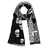 Best Skulls - Landisun Men's Soft Elegant Classical Tassels Scarf Shawl Review