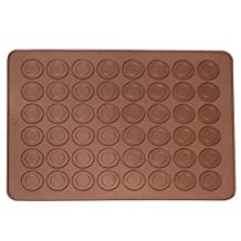 Macarons Mat 48 Capacity Macaroon Silicone Baking Sheet Muffin DIY Chocolate Cookie Mould Mode by Ucity