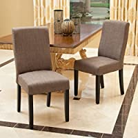 Christopher Knight Home 295178 Corbin Dining Chair (Set of 2), Taupe