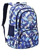 JiaYou Girl Flower Printed Primary Junior High University School Bag Bookbag Backpack(35 Liters, Style B Blue)