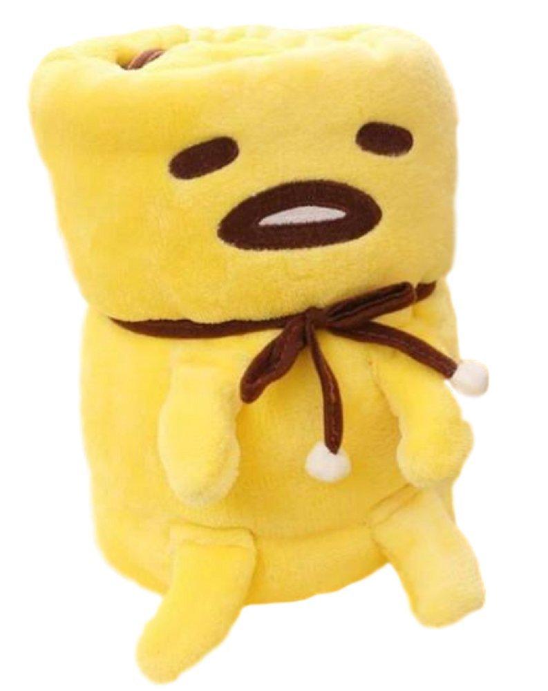 GK-O Anime Gudetama Plush Blanket Yellow Lazy Egg Yolk Roll Air Condition (Medium)