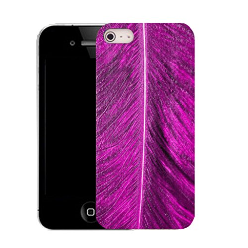 Mobile Case Mate IPhone 4 clip on Silicone Coque couverture case cover Pare-chocs + STYLET - purple palm leaf pattern (SILICON)