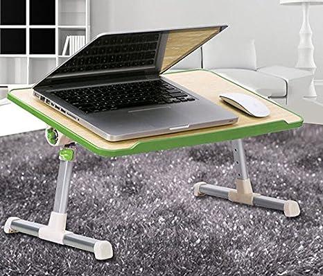 Tabla ligera del ordenador portátil, altura y ángulo del soporte del ordenador portátil Bandeja plegable ajustable de la cama del ordenador portátil con el ...