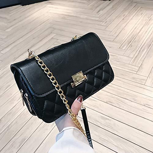 WSLMHH di catena verde tracolla borsa marea borsa tracolla versione a a della quadrata coreana femminile Borsa selvaggia nero piccola moda della borsa r8zwfr