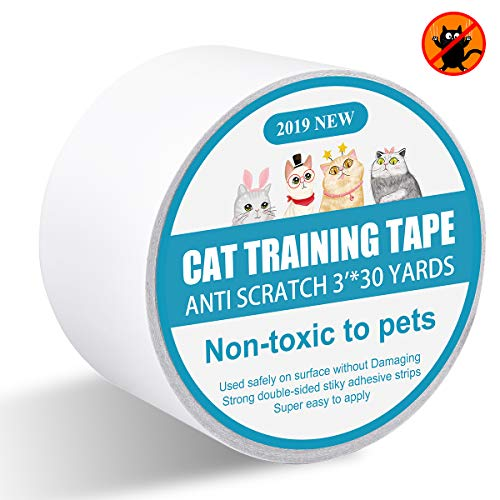 I-pure items Cat Scratch Deterrent - Anti-Scratch Cat Training Tape - 3 inches x 30 Yards Double Sided Carpet Protector Pet Tape for Carpet, Furniture, Couch, Door