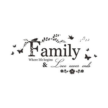 Tuopuda Wandtattoo Familie Wandsticker Deko Zimmer Aufkleber Family