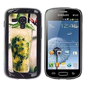 ROKK CASES / Samsung Galaxy S Duos S7562 / COOL MOJITO COCKTAIL / Delgado Negro Plástico caso cubierta Shell Armor Funda Case Cover
