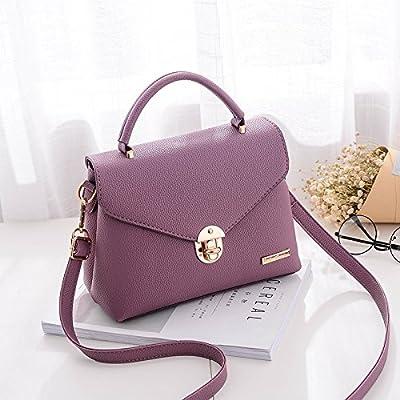 CengBao femme paquet l'automne et l'hiver coréen nouveau élégant et polyvalent sac de messager d'épaule unique filles minimaliste Mme paquet, Purple