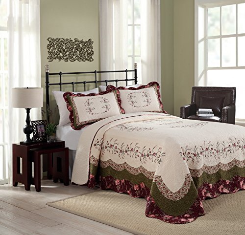 Modern Heirloom Collection Brooke Cotton Filled Bedspread, King, 120 by 118-Inch by Modern Heirloom Collection