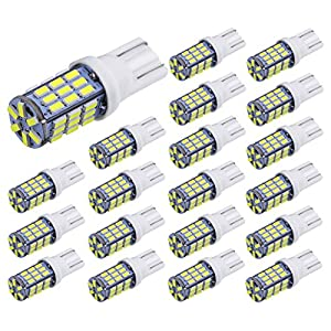 Aucan 20pcs Super Bright RV Trailer T10 921 194 42-SMD 12V Car Backup Reverse LED Lights Bulbs Light Width Lamp Xenon White