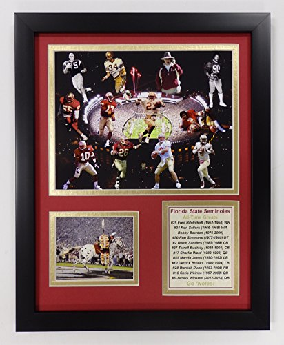 (Legends Never Die NCAA Florida State Seminoles Football Greats Double Matted Photo Frame, 12