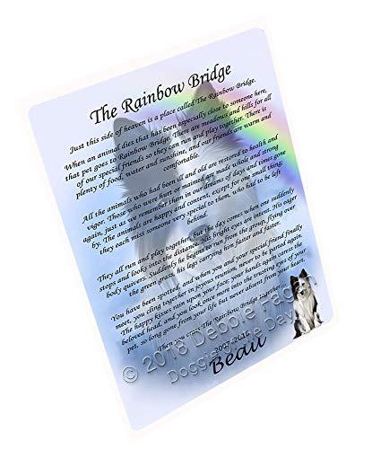 Rainbow Bridge Border Collie Dog Large Refrigerator/Dishwasher Magnet RMAG76716 (8.7