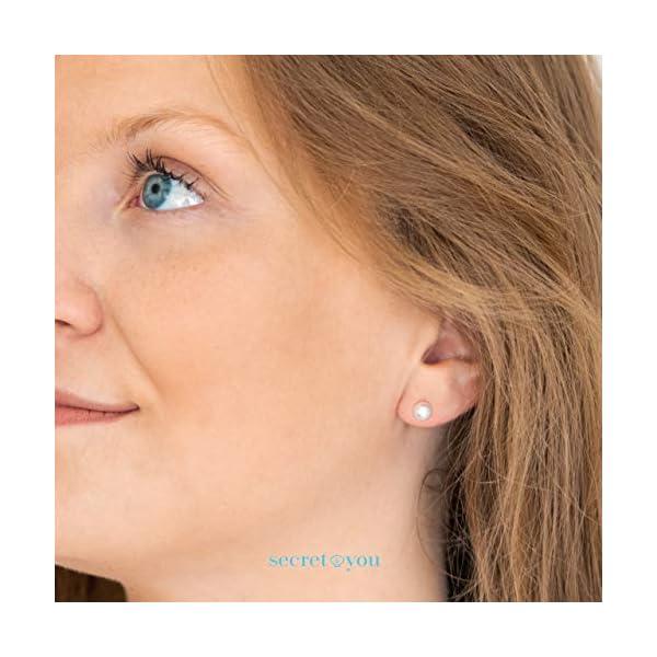 Orecchini da Donna con Perle Rotonde Coltivate D'Acqua Dolce Secret & You - Oro 18 carati 750 Legge o Argento rodiato… 5