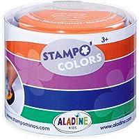 Aladine 85150 - Stampo Colors Carnaval, 4 stempelkussens, groen/blauw/paars/oranje