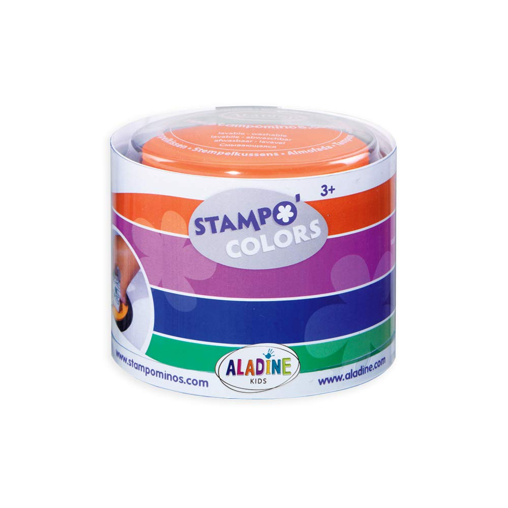 Stampo Colors Carnival Manual Activities and Creative Leisure for Children From 3 years Box of 4 Large Format Inks Washable Ink Ink Colors XL Size Colour Aladine