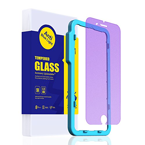 Blast Matte (SmartDevil Iphone 7 Plus /8 Plus Screen Protector Matte Anti-Blue Light Tempered Glass 9H Hardness 0.33mm Anti-Scratch, Shatter proof ,Bubble Free Premium Film [5.5 inch])