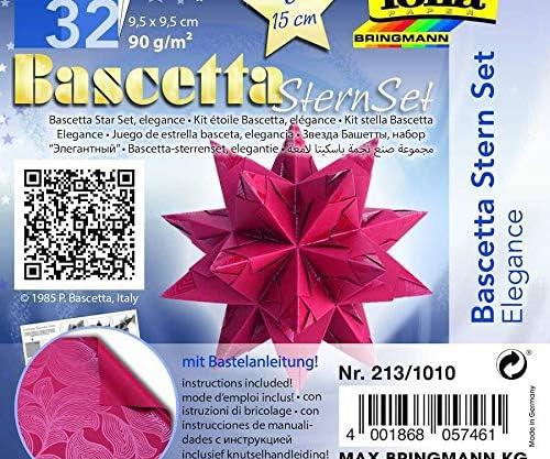 Cut Paper Craft Origami 90g // M3 Origami Art Paper Art Origami Folia Bringmann Star -elegance Craft Supplies Red Bascetta