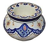 Ceramic Ashtrays Hand Made Moroccan smokeless Ceramic Vivid Colors X-large